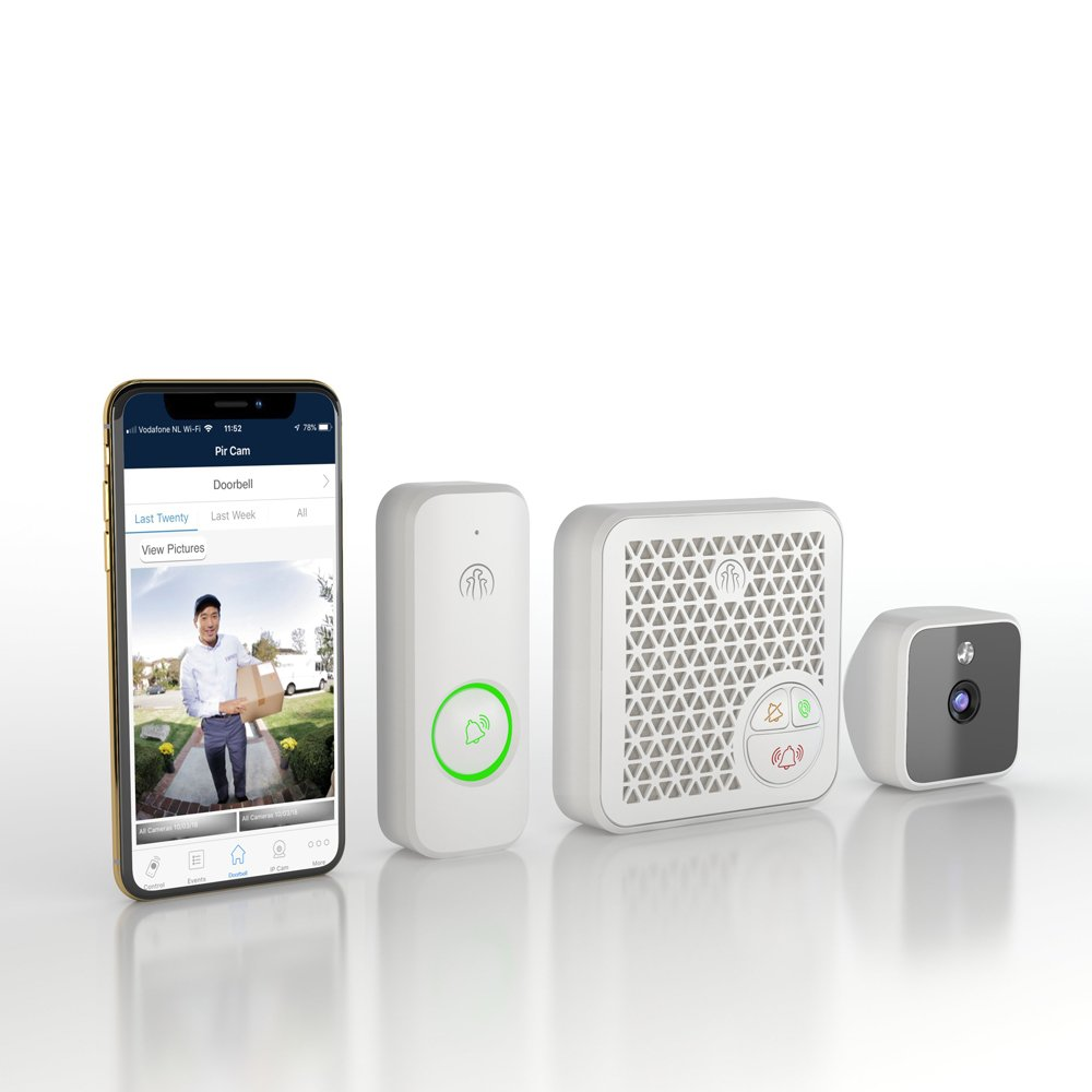Doorbell intercom set active